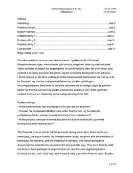 SRO om finanskrise og multiplikatoren i Samfundsfag A og Matematik A