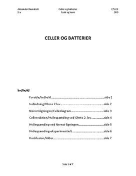 SRO - Celler og batterier