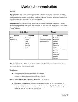 Notater til Markedskommunikation