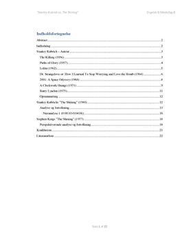 SRP: Auteuranalyse af Stanley Kubrick og The Shining