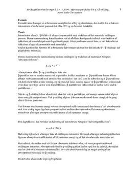 Absorption af betastråling - Rapport i Fysik