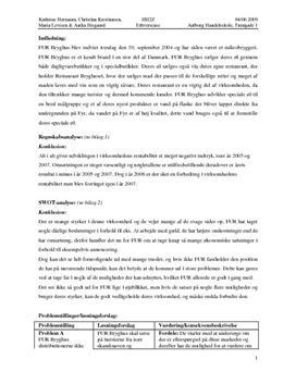 SWOT Analyse af Fur Bryghus Aps
