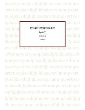 Noter til fysikbogen AB1 og AB2