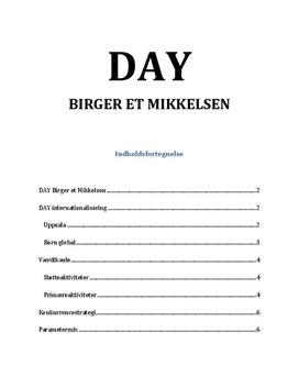 DAY: Internationalisering, værdikæde, konkurrencestrategi, parametermix | Afsætning A