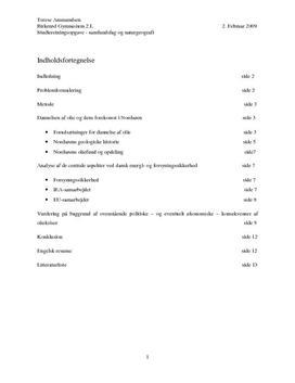 SRO om oliekrise og råstoffer | Samfundsfag A og naturgeografi B