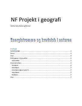 NF | Projekt om Energistrømme og kredsløb i naturen
