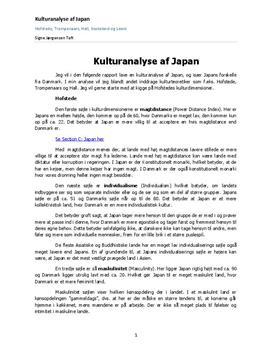 Komparativ kulturanalyse: Japan og Danmark