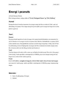 Energiindhold i peanuts