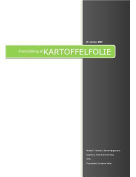 Rapport om fremstilling af kartoffel folie