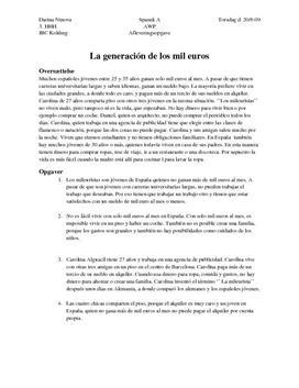 La generación de los mil euros | Nuevos retratos | Spansk A