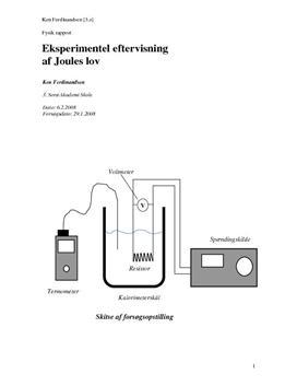 Joules lov - Teori og Eksperimentel eftervisning