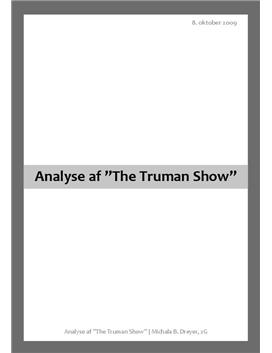 "Analyse af Filmen ""The Truman Show"""