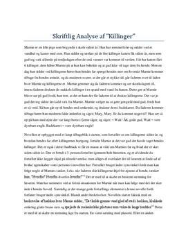 killinger analyse