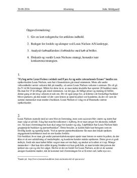 Louis Nielsen | Konkurrencestrategi og kædetype