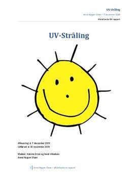 UV-stråling - rapport om ultraviolet stråling