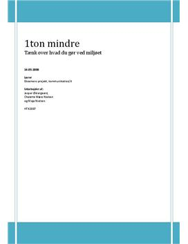 Eksamensopgave Kommunikation/It - 1 ton mindre