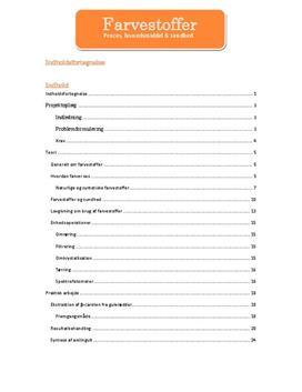 Farvestoffer | Proces, levnedsmiddel og sundhed