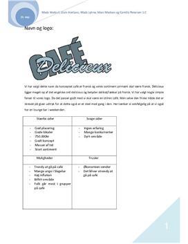 Etablering af virksomhed | Cafe