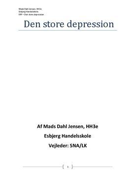 SOP om Den Store Depression i IØ A og Historie B