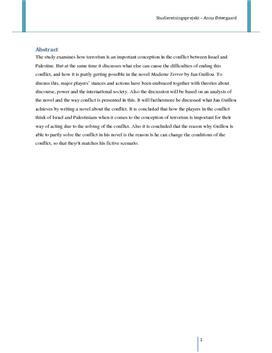 SRP: Israel-Palæstina og Terrorisme i Samfundsfag og Engelsk