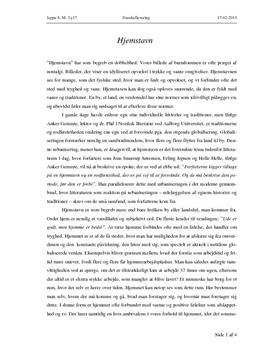 essay om hjemstavn