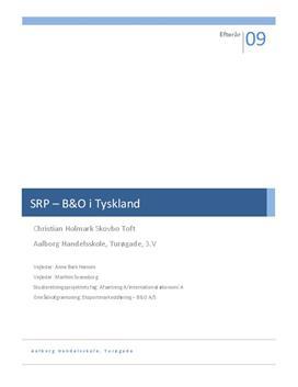 SOP: B&O i Tyskland i Afsætning A og International Økonomi B
