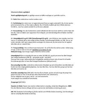 Noter om aftalers ugyldighed