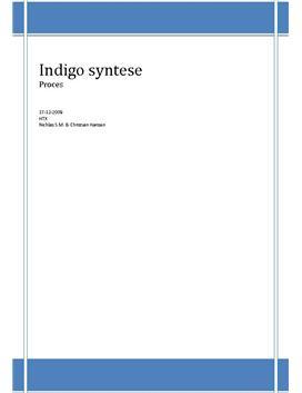 Farvestoffer - Indigo syntese