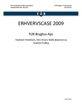 Erhvervscase om FUR Bryghus