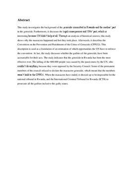 SRP om Borgerkrig i Rwanda i Historie A og Samfundsfag A