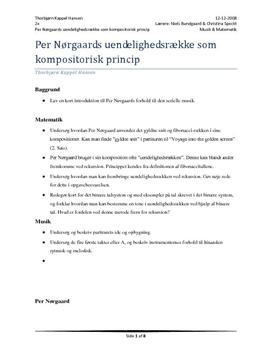 Per Nørgaards uendelighedsrække som kompositorisk princip