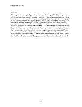 SRO om terrorisme og Al-Qaeda | Psykologi B og samfundsfag B
