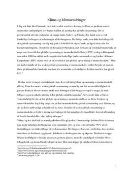 Klimaforandringer - Rapport i Naturgeografi