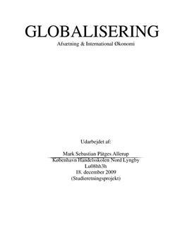 SOP om Carlsberg og Globalisering i Afsætning og IØ