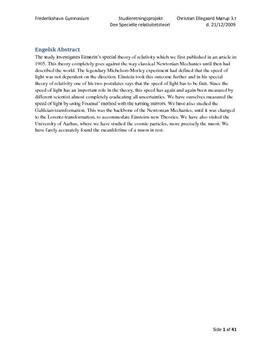 SRP om Einsteins Specielle Relativitetsteori