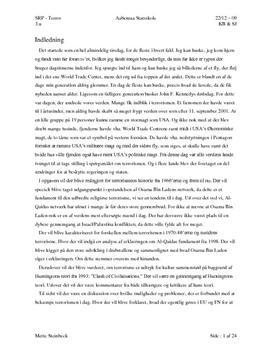 SRP om Terrorisme og Al-Qaeda i Samf A og Historie A