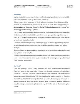 SOP om Tivoli A/S i Afsætning A og Virksomhedsøkonomi A