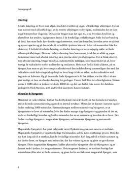 Geologi - Rapport i Naturgeografi