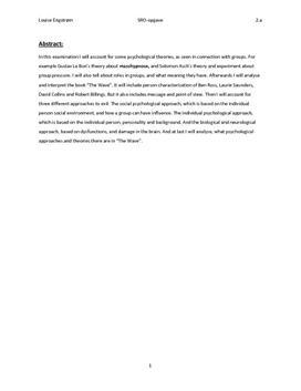 """SRO om """"The Wave"""" og Ondskab i Engelsk og Psykologi"""