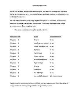 Styrketræningsprogram | Grundtræningsprogram