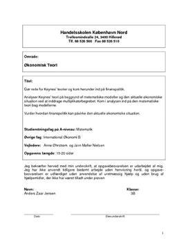 SOP om Økonomisk Teori i International Økonomi og Matematik