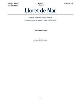 SOR-analyse af rejsemålet Lloret de Mar | Afsætning A