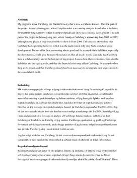 SOP om Carlsberg i Virksomhedsøkonomi A og Finansiering C