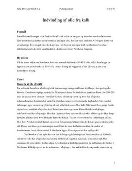 Indvinding af Olie fra Kridt - Rapport i Naturgeografi