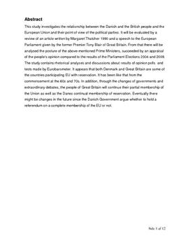 SRO om Storbritannien og EU | Samfundsfag A og engelsk A