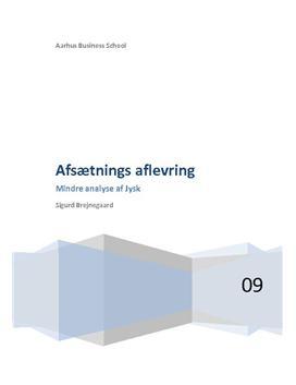 Virksomhedsanalyse af Jysk fra 2010
