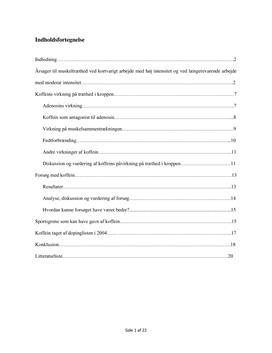 SRP om Koffein som Doping i Biologi A og Idræt B
