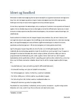 Idræt og sundhed | Rapport