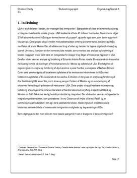 SRP om Latinamerikansk Indvandring i USA i Engelsk og Spansk
