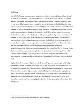 SSO med analyse af filmen Der ewige jude af Fritz Hippler